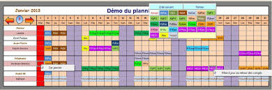 Calendrier Excel Calendrier Excel Young Planneur