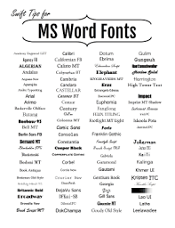 Forte Fonts Free Download Get A Quick Idea Of The Various Fonts Styles Serifs And San Serifs