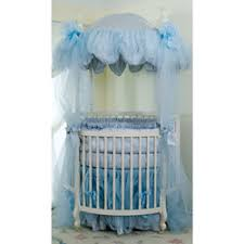 Monaco Round Crib Bedding - Blue
