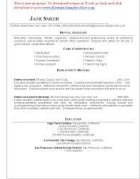 Dental Assistant Objective For Resume dental assistant resume template brianhansme 36