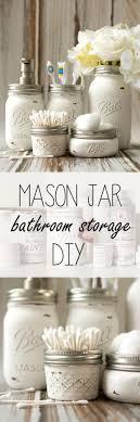 diy bathroom decor ideas mason jar bathroom storage accessories cool do it yourself bath