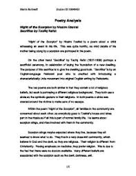 poetry analysis of night of the scorpion by nissim ezekiel and  page 1 zoom in