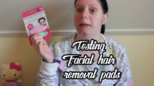 testing hair removal pads