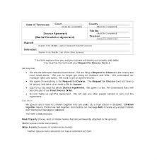 Free Download Divorce Agreement Template South African Settlement ...