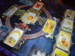 tarot cards on table