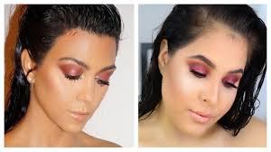 kourtney kardashian inspired cranberry eye makeup tutorial nelly toledo