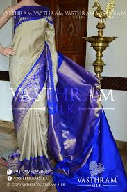 Usha Sridhar S Designer Sarees Chennai Cream Payadi Checks Pure Handwoven Kanchipuram Silk Saree