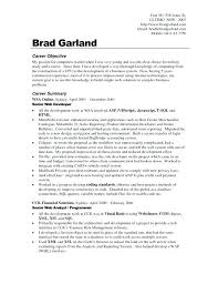 Career Goal For Resume Examples Resume Objectives For Sales New