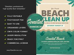 commercial cleaning flyer templates beach clean up flyer template flyerheroes