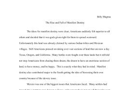 american manifest destiny essay