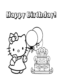 Twin hello kitty coloring paged5bf. Hello Kitty Coloring Page Happy Birthday Coloring Home