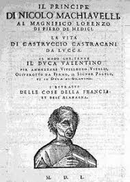 niccolo machiavelli the prince politics and strategy title page 1550 edition of principe commons