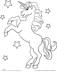 Coloring Page Of A Unicorn Free Coloring Page Unicorn Birthday