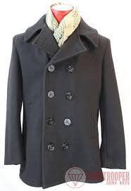 authentic us made navy peacoat