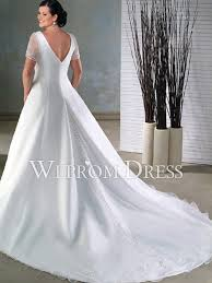 gothic white wedding dress. gothic plus size white satin|tulle chapel train short sleeve a-line wedding dresses dress r