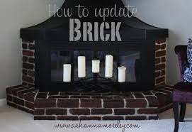 how to update a brick fireplace