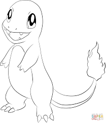 Pokemon Charmander Coloring Pages Coloring Home