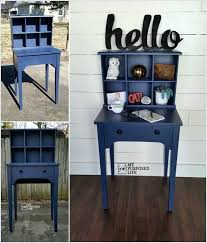 make a writing desk hutch by combining an old sewing table with recycled drawer machine and