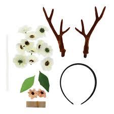 details about kids lady reindeer deer antler ear party hair band headband diy set supplies
