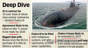 Us Submarine Classes Chart India Russia Nuclear Deal India Russia To Ink 3 Billion