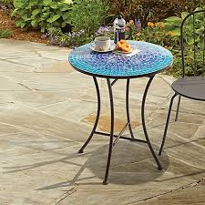 outdoor mosaic bistro table in blue mosaic bistro table o19