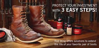clean and protect your red wing boots