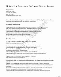 Sample Resume For Software Tester Fresher Fresh 1 Year Experience