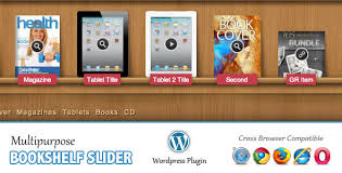 Multipurpose Bookshelf Slider  Wordpress Plugin