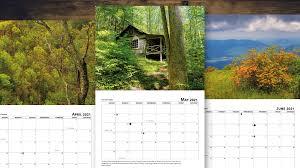 This listing is for printable 8.5x11 landscape monthly calendars january 2021 2021 Smoky Mountain Photo Calendar