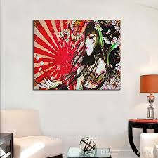for buyer so we suggest buyer get framed or stretched from location only buy painting from us because of after framed the shipping cost too expensive  on house wall art painting with 2018 japanese geisha girl custom canvas print wall art painting