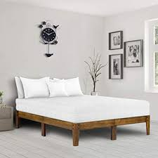 natural wood bed frame. Wonderful Bed Ecos Living 14 Inch Modern Solid Wood Platform Bed Bed Frame Classic To Natural Frame