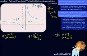 how to find the vertical and horizontal asymptotes of a rational function if there are any