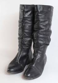 office london womens eu size 38 black leather slouch boots