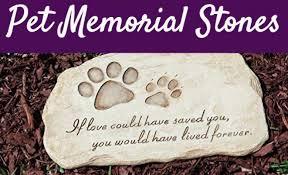 12 touching pet memorial stones in