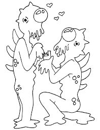 Small Picture Alien Coloring Page 2 Weird Aliens in Love Colowing
