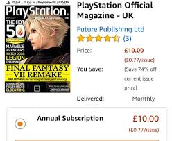 amazon annual magazine subscription 5 10 kindle edition including playstation official magazine fourfourtwo and more hotukdeals