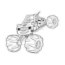 Coloring Pages Blaze Coloring Pages Stripes And The Monster
