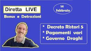 Pagamenti Febbraio e Nuovo Governo Draghi con Decreto Ristori - DIRETTA  LIVE - YouTube