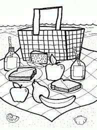 Small Picture Picnic Launch on Summertime Coloring Page Download Print