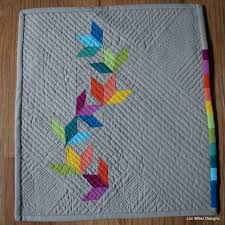 Tiny Quilt Challenge 2015   Lori Miller Designs & Modern Swallow Trail Tiny Quilt goes to Road to California 2016 Adamdwight.com