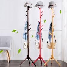 Floor Standing Coat Rack Extraordinary Simple Solid Wood Floor Standing Coat Rack Living Room Bedroom