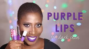 makeup purple lip colors for dark skin video