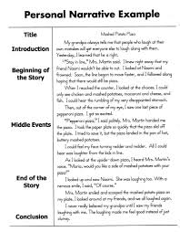 how to write a personal narrative essay for th th grade oc  sample personal narrative essay