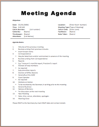 Microsoft Word Meeting Agenda Template Fascinating Basic Meeting Agenda Template Printable Meeting Agenda Templates