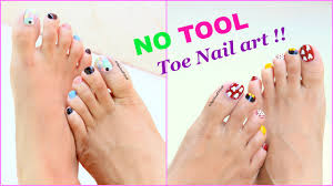 2 Easy and Quick Toe Nail Art designs tutorial - YouTube