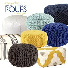 Fantastic Room Pouf Ottoman Ideas Pouf Ottoman Silver Moroccan Nursery Diy  Poufs Gray Poof Crochet Floor Ottomans And Orange Knitted Wool Furniture  Kelsey. ...