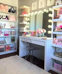 How To Make A Vanity Mirror With Lights Inspiration Vanity Mirror Lights Homemade Makeup Wooden Thejumpoffco