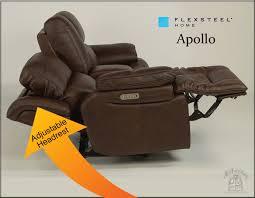 flexsteel apollo power leather recliner