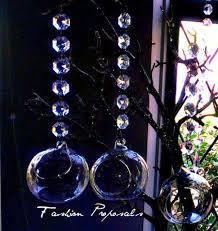 tea light hanging bubbles set of 36 3 5 inch led tealight candle holder with 7 inch acrylic garland 2407002 weddbook