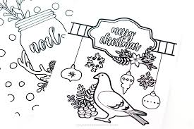 Small Picture Learn to Create Christmas Coloring Pages in Photoshop Printable